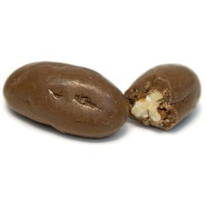 gift bag of chocolate pecans